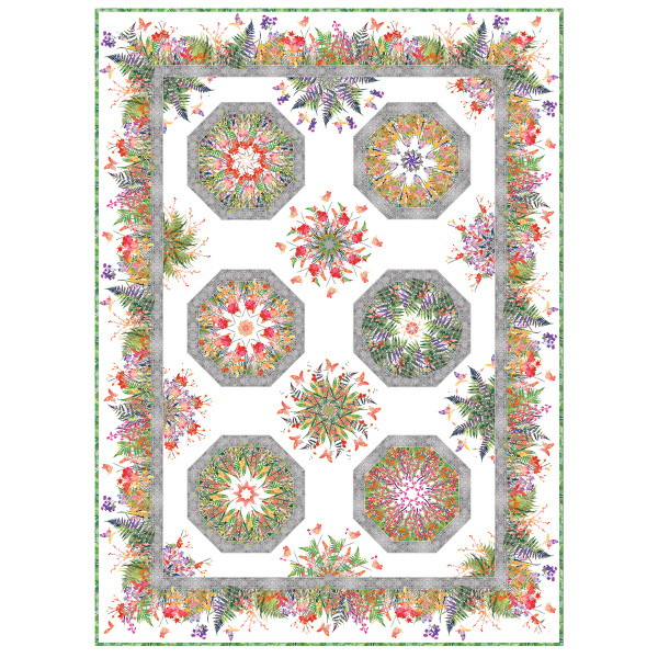 Garden Of Dreams One Fabric Kaleidoscope Pattern By Jason
