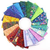 Painterly Petals 21-Piece Fat Quarter Collection From Robert Kaufman - Keepsake Quilting