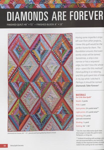 Strip Quilt Secrets Keepsake Quilting