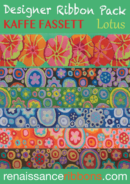 Kaffe Fassett Lotus Designer Ribbon Pack Keepsake Quilting