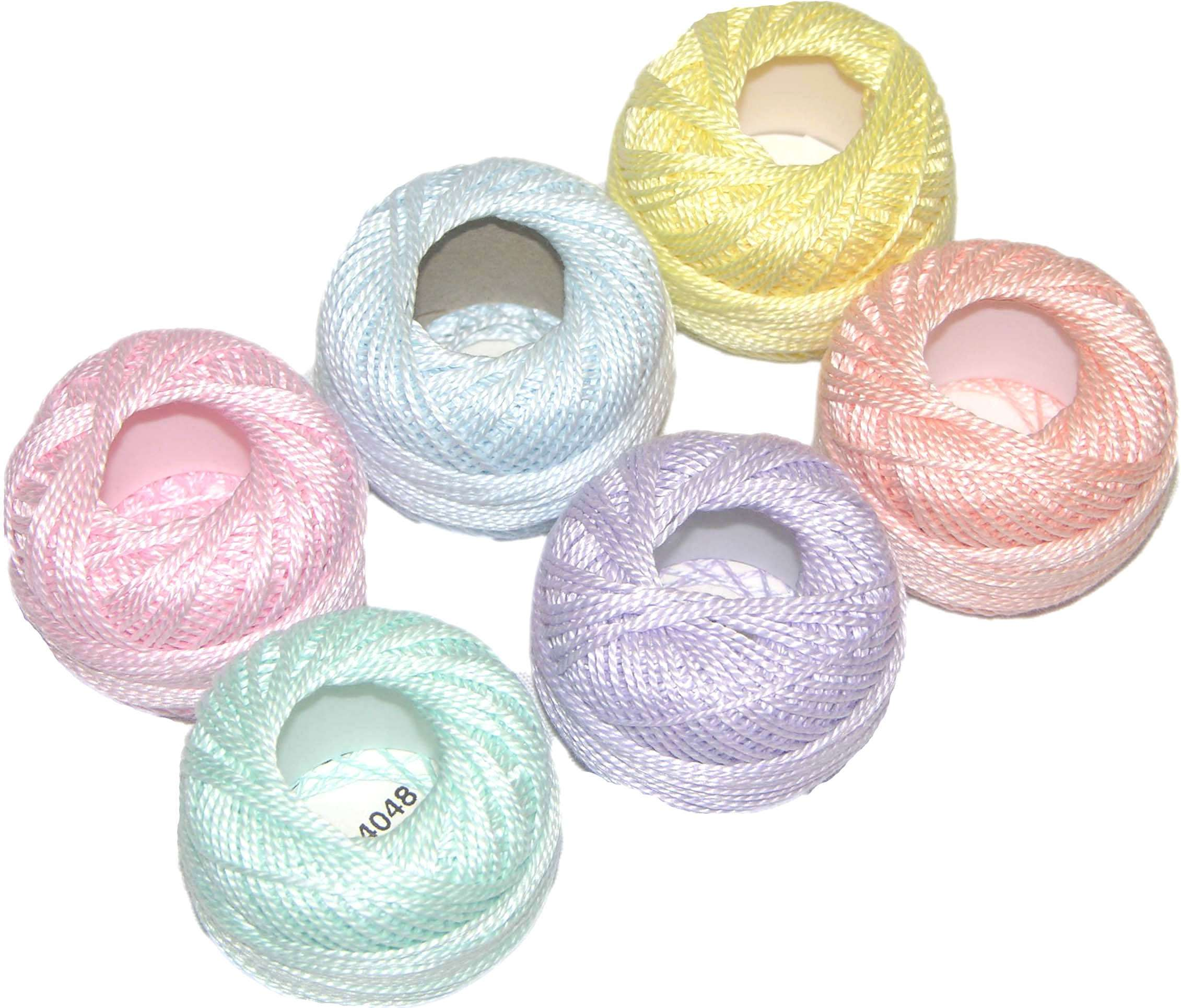 10 gram PASTEL Collection Presencia Finca Perle Cotton Thread Sampler Pack - for sashiko embroidery Size 5 and quilting