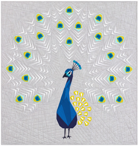 Peacock Abstractions Quilt Keepsake Quilting