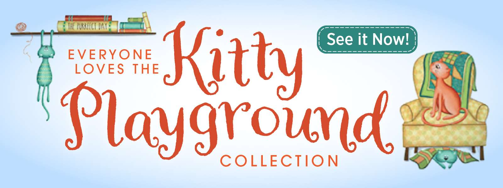 kitty playground fabric collection